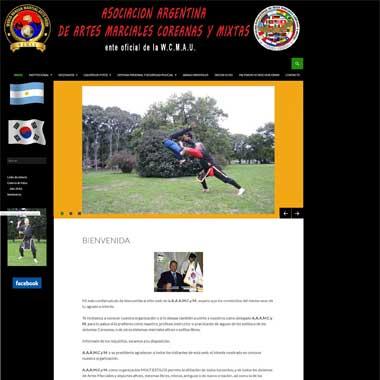 Sitio web desarrollado en WordPress