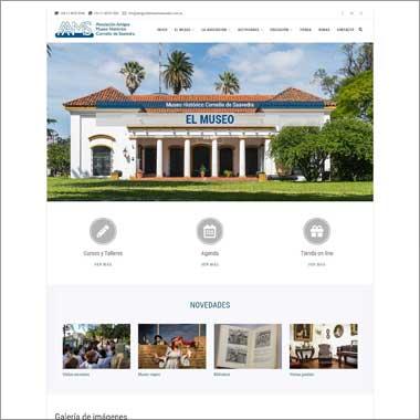 Sitio desarrollado en WordPress